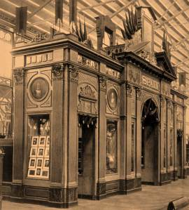 Pabellón de España en la Exposición Universal de Filadelfia en 1876 (Biblioteca Nacional)