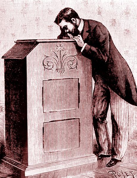 Kinetoscopio de Edison en 1893.