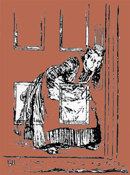 Una criada descubierta escuchando detrás de la puerta gracias a los Rayos-X
