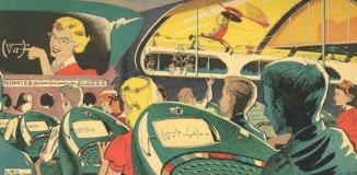 Una escuela del futuro imaginada en 1958 en una revista norteamericana