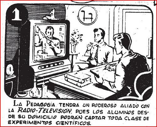 Una utopía educativo-futurista anunciada en España por la Escuela de Enseñanza por Correspondencia Radio Maymo