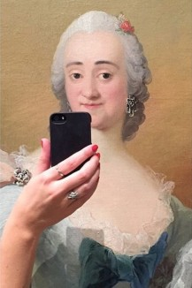 """From the National Gallery of Denmark (Olivia Muus/Museum of Selfies/Tumblr) """"When I travelled to Amsterdam, I visited several museums on my trip, I thought it would be fun to start making a series of pictures,"""" she says. """"My plan is to continue doing this as I travel around, but I'm also really hoping that other people will join the Museum of Selfies with their own pictures."""""""