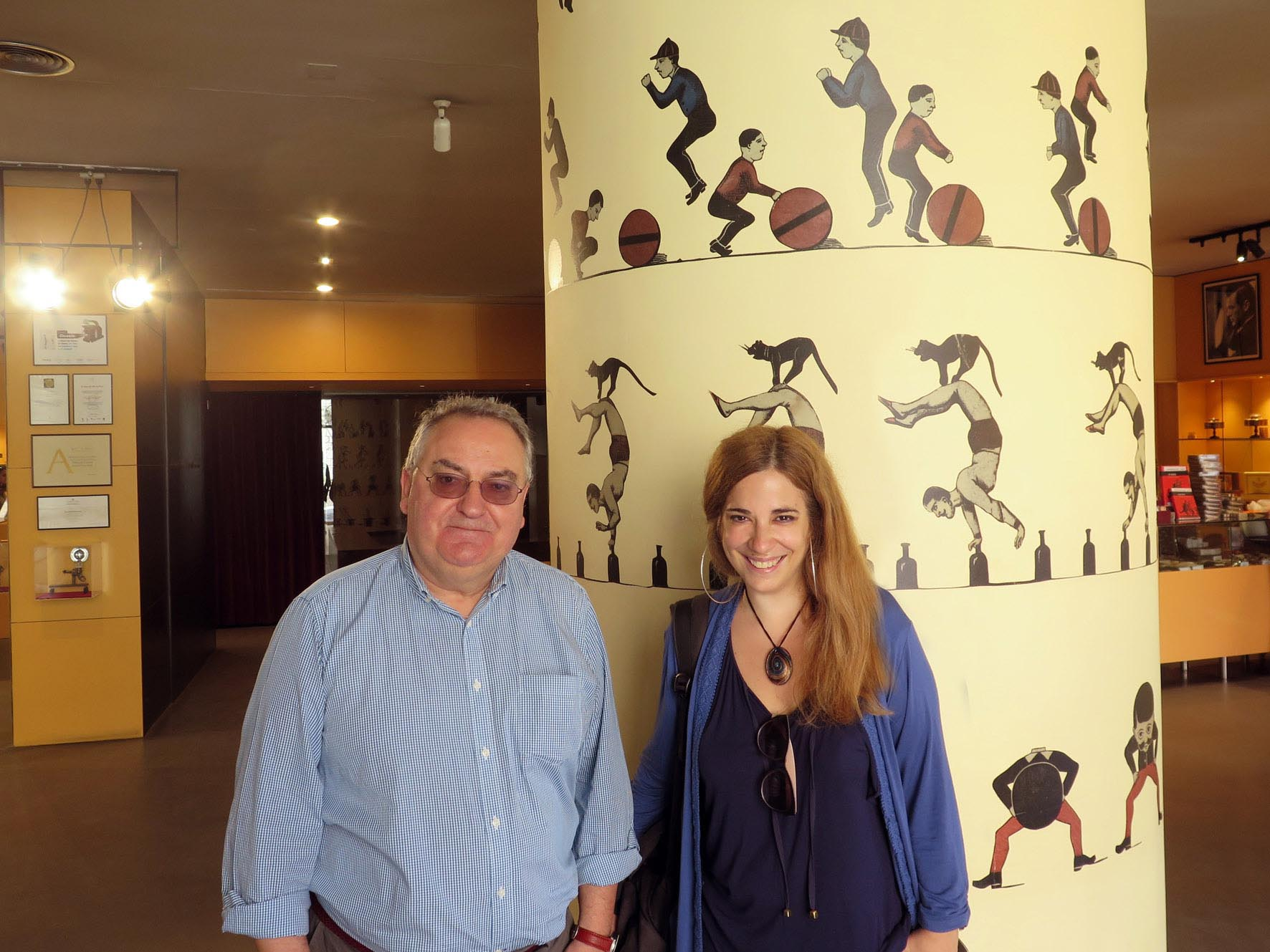 Andrea y Bernardo.Museu del Cinema